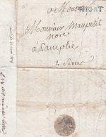 L4A014 France Lettre Niort Pour Samplies Deux Sèvres 1814 - Postmark Collection (Covers)