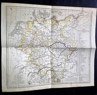 Allemagne, Pour La Géographie De M.M. Achille Meissas - Carte Geographique