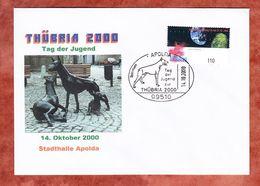 Beleg, EF Expo Hannover, SoSt Dobermann Tag Der Jugend Thuebria Apolda 2000 (56751) - Storia Postale
