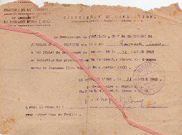 Document: Certificat De Libération- Chantier De Jeunesse N° 25- Le BOUSQUET D'ORB- - Documents
