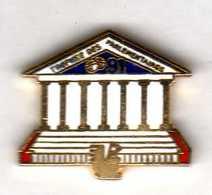 Pin's  Assemblée Nationale   Trophée Des Parlementaires  91 Caisse D'epargne   EGF  FC Pin's - Administrations
