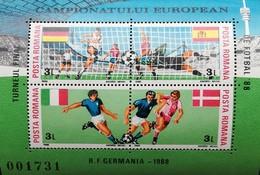 Romania   1988 European Soccer Championship, Germany S/S - 1948-.... Republics