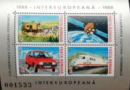 Romania  1988 Intereuropa S/S - 1948-.... Republics