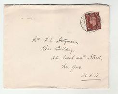 1939? WOOLTHORPE GRANTHAM Cds COVER GB GVI Stamps - 1902-1951 (Kings)