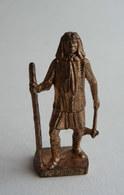FIGURINE KINDER  METAL  INDIEN I - 7 GERONIMO (3) Cuivre - KRIEGER Berümmte Indianer-Häuptlinge - Figurines En Métal