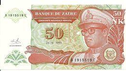ZAIRE 50 NOUVEAUX MAKUTA 1993 UNC P 51 - Zaïre