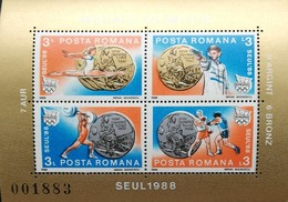 Romania   1988 Events Won By Romanian Athletes At The 1988 Seoul Olympic Games S/S - 1948-.... Republics