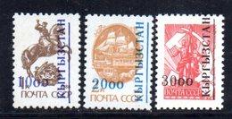 152 490 - KIRGHISISTAN 1993 , Unificato N. 13/15  ***  . - Kirghizstan