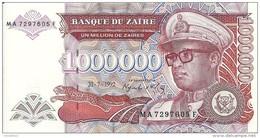 ZAIRE 1 MILLION  ZAIRES 1992  UNC P 44 - Zaïre