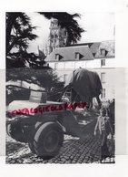 37 - TOURS- CATHEDRALE TRANSPORT ELEPHANT SCULPTURE - PHOTO ORIGINALE JEAN BOURGEOIS - Lieux