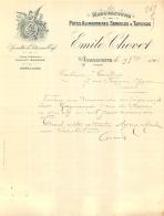 DOCUMENT COMMERCIAL 1903 EMILE CHOVET MANUFACTURE PATES ALIMENTAIRES SEMOULES TAPIOCAS A ANDANCETTE DROME - France