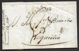 1811 LAC Departemental 64 Bayonne A Lequeitio, Espagne - - Marcophilie (Lettres)