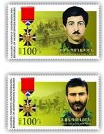 Armenia - Nagorno Karabakh Artsakh 2015 Mih 112-113 Heroes Of Artsakh Yuri Poghosyan Ashot Ghulyan MNH** - Armenia