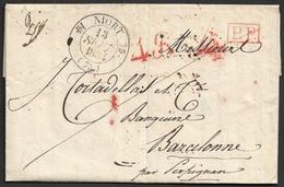1834 LAC  De Niort ( Dep. 75 ) A Barcelona, Espagne - 1801-1848: Précurseurs XIX
