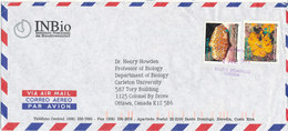 Costa Rica Air Mail Cover Sent To Canada 2-7-1995 Topic Stamps - Costa Rica
