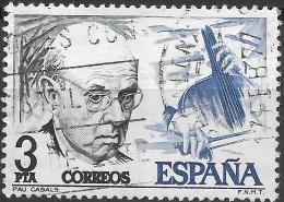 SPAIN 1976 Birth Centenaries - 3p Pablo Casals And Cello FU - 1931-Today: 2nd Rep - ... Juan Carlos I