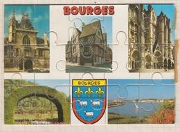 8AK2568 BOURGES MULTI VUES PUZZLE 2SCANS - Bourges