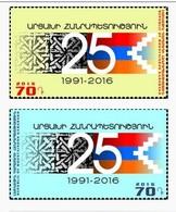 Armenia - Nagorno Karabakh Artsakh 2016 Mih 125-126 25th Anniversary Of Republic Of Mountainous Karabakh  MNH** - Armenia