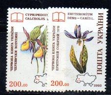 760 490 - UCRAINA 1993 , Unificato N. 209//210  Integra  ***  Orchidee - Ucraina