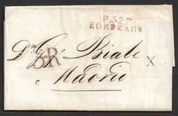 1819 LAC Departemental Bordeaux A Madrid,Espagne - Marcophilie (Lettres)
