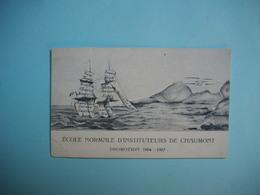 CHAUMONT  -  52  -  Carte Visite Ecole Normale D'instituteurs  -  PROMOTION 1904  -  1907  -  Haute Marne - Chaumont