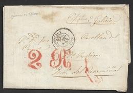 1854 LAC Bordeaux A Puebla De Caramiñal, Espagne, Galicia - 1849-1876: Classic Period
