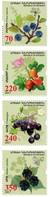 Armenia - Nagorno Karabakh Artsakh 2017 Mih 133-136 Flora Of Artsakh Prinus Spinosa Rosa Crataegus Rubus Caesius MNH** - Arménie