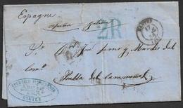 1856 LAC Nantes A Puebla De Caramiñal, Espagne, Galicia - 1849-1876: Classic Period