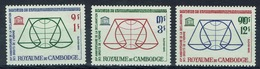 Cambodia, Universal Declaration Of Human Rights , 1963, MH VF  Complete Set Of 3 - Cambodia