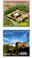 Armenia - Nagorno Karabakh Artsakh 2017 Europa 2017. Castles Amaras Castle. Mayraberd Castle. MNH** - Arménie