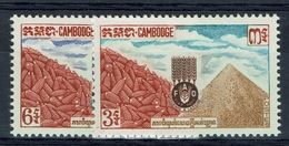 Cambodia, Campaign Against Hunger, 1963, MH VF  Complete Set Of 2 - Cambodia