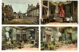 """{27796} 77 Palais Fontainebleau Lot De 7 Cartes .   """" En Baisse """" - Fontainebleau"""