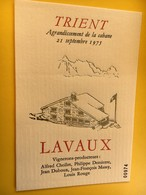 8802 - Trient Agrandissement De La Cabane 21.09.1975 Suiise Lavaux Plusieurs Vignerons - Bergen
