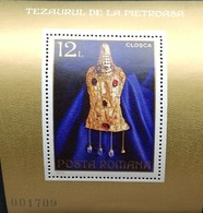 Romania   1973 Roman Gold Treasures Of Pietroasa, 4th. Cent. S/S - 1948-.... Republics
