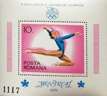 Romania   1976  21st.Olympc Games, Montreal ,Canada S/S - 1948-.... Republics