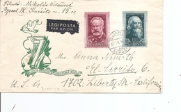 Hongrie ( Lettre Par Avion De 1952 Vers Les USA à Voir) - Lettere