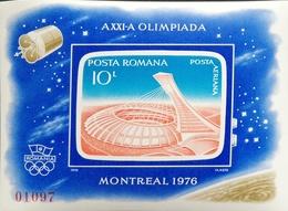 Romania   1976  21st.Olympc Games, Montreal ,Canada  Imperf. S/S - 1948-.... Republics