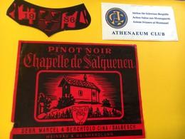 8809 -  Pinor Noir Chapelle De Salquenen 1986 Suisse Athenaeum Action Suisse Aux Montagnards - Montagnes
