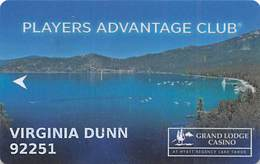 Grand Lodge Casino - Lake Tahoe NV - Slot Card - Casino Cards