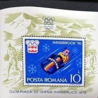 Romania   1976 12th. Winter Olympic Games,Innsbruk, S/S - 1948-.... Republics