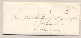 Nederland - 1860 - LEIDEN - Gebroken Cirkel Op Complete Brief Van SASSENHEIM Via Hoorn Naar Berkhout - Nederland