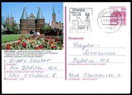 84751) BRD - P 138 - S7/110 - OO Gestempelt - 2400 Lübeck, Holstentor, Teilansicht - [7] West-Duitsland