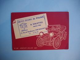 CARTE CONVOCATION AUTO ECOLE  -  Carcassonne  -  11  -  Aude - Cartes De Visite