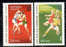1002  490 - UCRAINA 1996 , Unificato N. 269/270  Integra  ***  Olimpiadi Atlanta - Ucraina