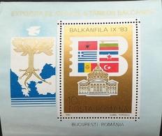 """Romania  1983 BALKANFILA """"83 S/S - 1948-.... Republics"""
