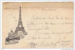 Sage Obl EXPOSITION UNIVERSELLE  1889 Sur Carte LIBONIS Cachet Rouge 2eme Etage De La TOUR EIFFEL - PARIS - Marcophilie (Lettres)