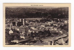 38 Bourgoin N°63 Belle Vue D'ensemble La Gare Voies Ferrées Wagons - Bourgoin