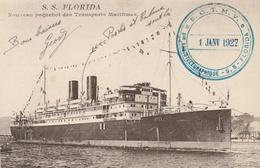 S.S.FLORIDA  Nouveau Paquebot Des Transports Maritimes - Steamers