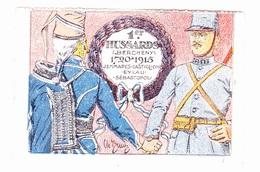 Vignette Militaire Delandre - 1er Régiment De Hussards - Vignettes Militaires