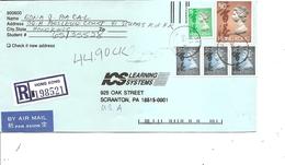 Hong-Kong ( Lettre Recommandée Par Avion De 1995 De HongKong Vers Les USA à Voir) - Hong Kong (...-1997)